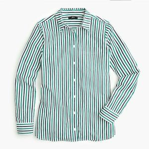 J Crew Classic Fit Boy Shirt Button Stripe Blouse